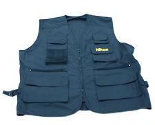 NIKON OFFICIAL PHOTOGRAPHER OUTDOOR VEST JACKET SIZE L BLUE UNUSED