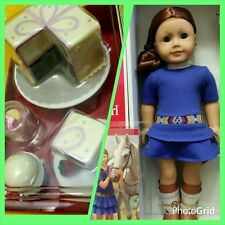 AMERICAN GIRL DOLL SAIGE & BOOK GOTY 2013 + PARTY TREATS SET CAKE ICE CREAM NIB
