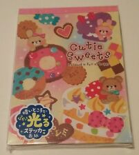 Rare Mind Wave Japan Cutie Sweets Kawaii Large Memo Pad Donuts Bears Desserts