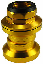 "Aluminum alloy old school BMX bicycle headset 1"" threaded 32.5mm cups GOLD"