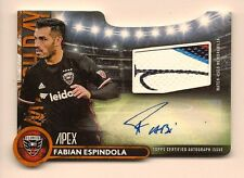 FABIAN ESPINDOLA 2016 TOPPS MLS APEX GAME USED MATCH DAY DIE-CUT AUTO JERSEY /25
