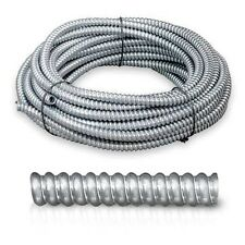 """100' feet Greenfield Flexible Metal Conduit 1/2"""" Cover Electrical Protect Wires"""