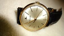 VINTAGE LECOULTRE 18K GOLD MEN'S 1965 YEAR MANUAL BEST LOOKING
