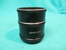 M42 PENTAX SCREW MOUNT BEROFLEX MACRO EXTENSION TUBE SET