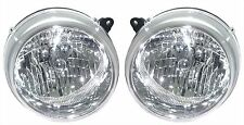 Jeep Liberty 02-03 Headlights Headlamps Left & Right Pair Set Set Lens & Housing