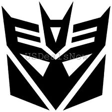 (2) BLACK Transformers Decepticon Vinyl Decal Sticker Car Hood Window Laptop
