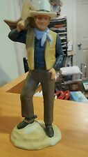 1985 Avon Images of Hollywood John Wayne as Bob Seton Porcelain Figurine
