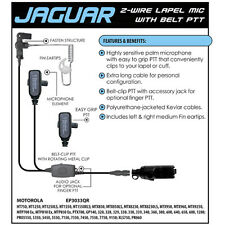 JAGUAR Quick Release Headset for Motorola PRO EX GL GP PTX Radios (See List)