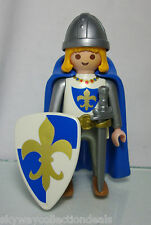 Rare Special Playmobil fig -4547, Fleur de Lis Blue Prince,King's Son.1997, Used