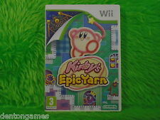 wii KIRBY'S EPIC YARN Game Nintendo PAL ENGLISH UK Version Kirbys