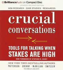 Crucial Conversations: Tools for Talk by Kerry Patterson (Audio CD-Audiobook)NEW