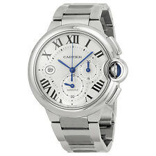 Cartier Ballon Bleu Automatic Silver Dial Stainless Steel Mens Watch W6920076