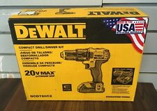 "**NEW** DeWALT Model DCD780C2 1/2"" Compact Drill/Driver Kit 20v MAX Lithium Ion"