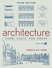 Architecture: Form, Space, and Order Francis D. K. Ching Books-Good Condition