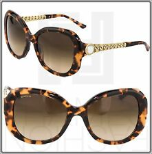 BVLGARI CATENE Chain Oversized Brown Gold Purple Sunglasses BV8129 BV 8129HB