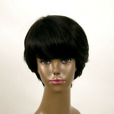 perruque afro femme 100% cheveux naturel courte noir ref WHIT 05/1b