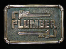 OC23129 VINTAGE 1978 **PLUMBER** COMMEMORATIVE SOLID BRASS BARON BELT BUCKLE