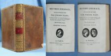 ŒUVRES d'HORACE / TOME 1 / Traduction Pierre DARU / Levrault 1804 /  Latin-Franç