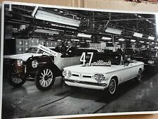 """12 By 18"""" Black & White Picture of GM's 47th Million Car Corvair Convertible"""