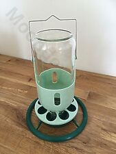 1kg Hanging Glass Feeder For Cage Aviary Finches/ Canary/ Budgie/Birds