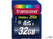 Transcend 32GB SDHC Class 10 Karte 200x Card 32 GB 30 MB/s T32GSDHC10 SD HC