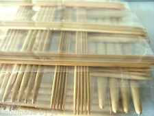 17 sets DPN  UK & Metric sizes marked double pointed bamboo Knitting needles