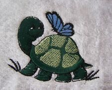 """""""PERSONALIZED EMBROIDERED BABY BOY TURTLE  HOODED BATH TOWEL""""100% COTTON"""
