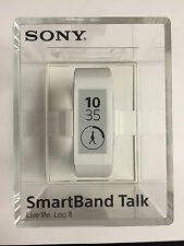 Sony WHITE SmartBand Talk SWR30 Lifelog NFC Android 4.4 IP68 Waterproof Retail