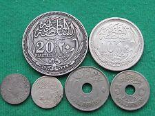 Egipto desde (de 1876 a 1917) 6 monedas raras de alta calidad muy raro