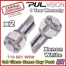 2x Error Free Canbus T10 194 168 W5W 501 5050 5 SMD LED White Car Side Light