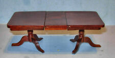 MUSEUM PEDESTAL EXTENSION DINING TABLE  DOLLHOUSE FURNITURE MINIATURES