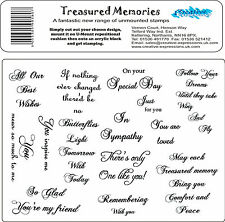 Treasured Memories Set of Unmounted Rubber Stamps Creative Expressions A5