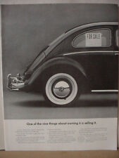 1964 VW Volkswagen Beetle Bug Car For Sale Sign in Window Vintage Print Ad 10370