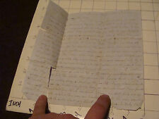 Vintage Letter: 1861 from L A FOLSOM, to little Grandaughter Ada, torn
