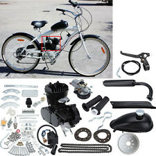 DIY 2 Cycle Petrol Gas 49cc 50cc Motorized Bike Motor Bicycle Engine kit black