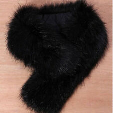 Fashion Faux Fox Fur Collar Scarf Fluffy Winter Shawl Wrap Stole Scarfs Chic