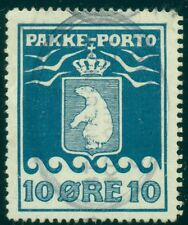 GREENLAND #Q4a (P3B) 10ore Pakke Porto, p. 12 ½ , officially reperforated