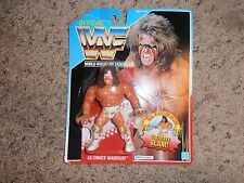 ULTIMATE WARRIOR wwf HASBRO wrestling FIGURE moc BLUE CARD SERIES 2