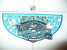 OA O Shot Caw Lodge 265 S-67,1998 NOAC,Marlins MLB Baseball,TRQ Lt Flap,South FL