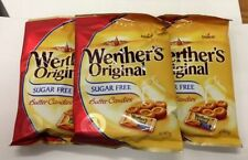 3 x Werthers Original Sugar Free Butter Candies diabetic Bags