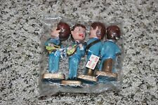 Vintage In Package THE BEATLES Cake Toppers Bobblehead Nodders Made in Hong Kong
