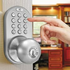Electronic Door Lock Home Keyless Entry Knob Home Keypad Exterior Combination