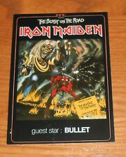 Iron Maiden The Beast on the Road Original Promo Postcard 4x6