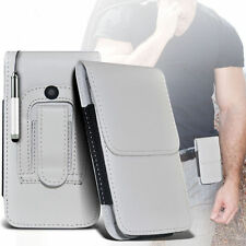 PU Leather Pouch Belt Holster Case & Stylus Pen For Apple Iphone 4S