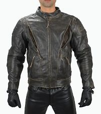 1091 Gr.S  Antik Leder Motorradjacke,Chopper Leder jacke Biker Leather Jacket