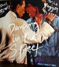 """DAVID BOWIE AND MICK JAGGER  LP  12"""" SINGLE DANCING IN THE STREET GERMAN"""