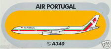 Baggage Label - TAP Air Portugal - A340 - Airbus - Sticker (BL466)