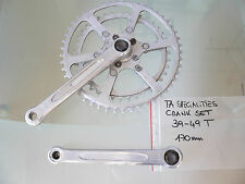 1960s-70s TA specialities crank set plateaux 170mm 49/39T gc dural french bike