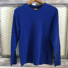 Ralph Lauren Polo Sweater Pony XL Shirt Blue 100% Cotton Mens