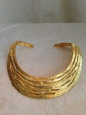 """NEW Kenneth Jay Lane Large GOLD TONE CHOKER Necklace - 1.5"""" Wide"""